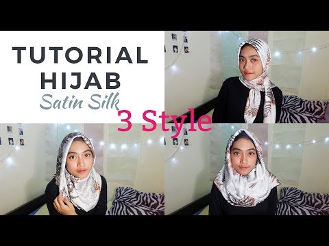 Video TUTORIAL HIJAB SEGI EMPAT I BAHAN SATIN SILK I INSPIRASI LEBARAN 2017