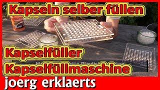 Kapseln selber herstellen Kapselmaschine Robert Franz Kapselfüller Tutorial Nr 215