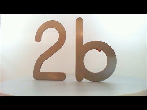 Numero/Lettera civici in acciaio inox - 69551