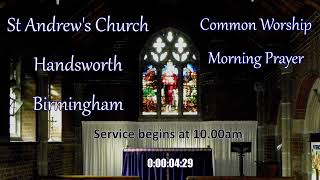 St Andrew's Church – CW Morning Prayer – Friday 28th May 10.00am