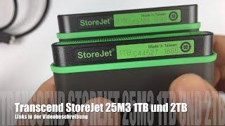 Transcend StoreJet 25M3 Anti-Shock 1 TB und 2 TB externe Festplatte im Test