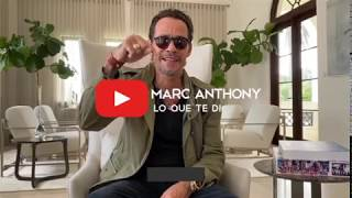 Marc Anthony - Lo Que Te Dí | Nuevo video