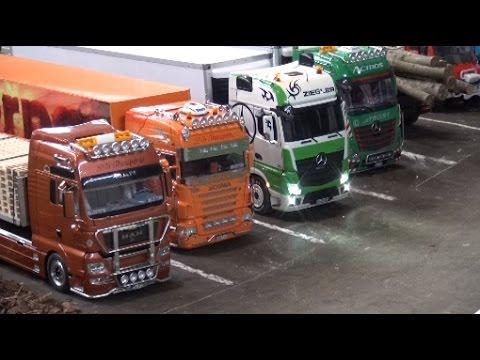 RC Trucks Construction Site LKW Baustelle Bagger ♦ Erlebniswelt Modellbau Kassel 2016 Modellbaumesse