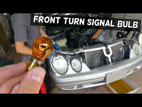 MERCEDES W208 W210 FRONT TURN SIGNAL LIGHT BULB REPLACEMENT REMOVAL
