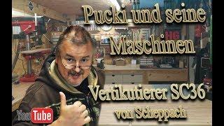 Pucki und seine Maschinen Vertikutierer SC36 scheppach