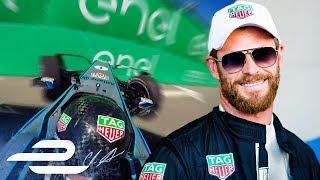 Chris Hemsworth Loses It In A Formula E Car!