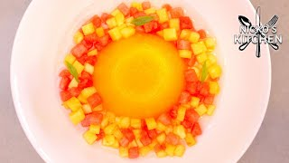 Orange Jelly with Tropical Fruits 🍍 Easy Dessert Recipe