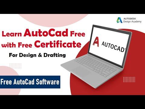 AutoCAD Free Certification | Free Autocad Courses with Certificate | Autodesk Free courses | CAD |
