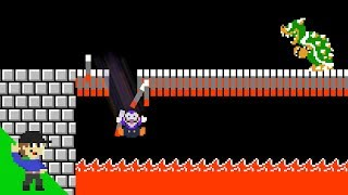 Waluigi loses by doing absolutely everything in Super Mario Bros.