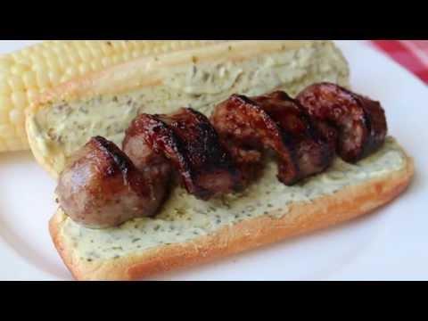 "Curly ""Q"" Sausage — Grilled Spiral Cut Sausage"