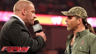 Triple H and Shawn Michaels don't see eye-to-eye: Raw, Oct. 21, 2013