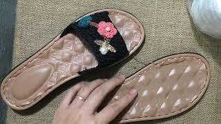 Crochet Shoes Handmade -Móc Dép Ong Bắp Cày Hút Mật