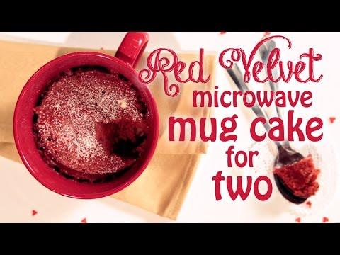 Video Red Velvet Microwave Mug Cake Recipe For Two