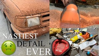 DIRTY CAR DETAILING | Satisfying Transformation Deep Cleaning Of Filthy Truck Interior And Exterior