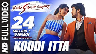 Santhu Straight Forward Video Songs | Koodi Itta Full Video Song | Yash,Radhika Pandit|V Harikrishna