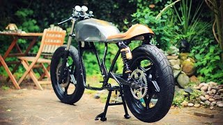 Cafe Racer Build Part 7, Powder Coated Frame And Build, 78 Suzuki GS550