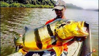 Fishing a HIDDEN LAGOON for GIANT PEACOCK BASS!!