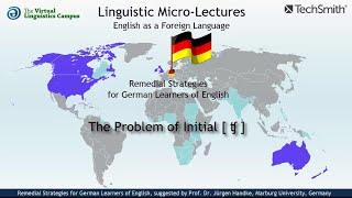 "Initial ""TSCH"" - Remedial Strategies for German EFL Learners"
