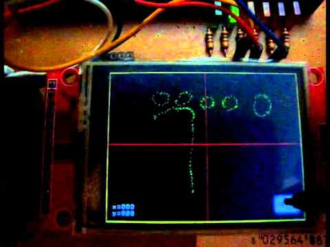 """2.4"""" TFT LCD WITH TOUCHSCREEN AND PIC 18F2520 DEMO TEST"""