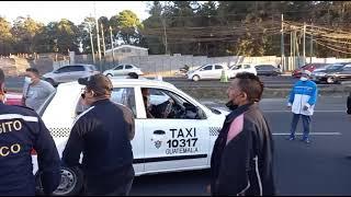 Mixco: Llaman a pilotos de taxis a sumarse a la protesta