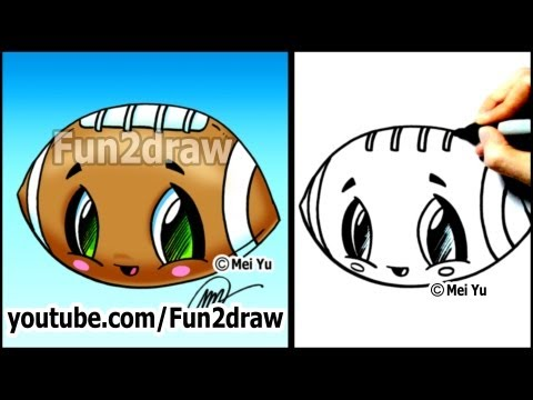 Fun2draw football fun2draw stars by the funny drawers for Fun and easy pictures to draw