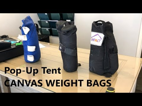 Pop-Up Tent - Canopy Weight Bag Comparison - Impact vs Ohuhu vs Gigatent