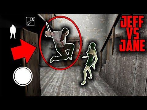 Jeff the Killer vs Jane the Killer in Granny Horror Game (Granny Creepypasta Battle) (видео)