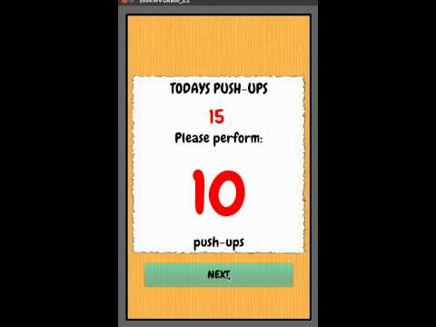 Video of Push Up - workout routine