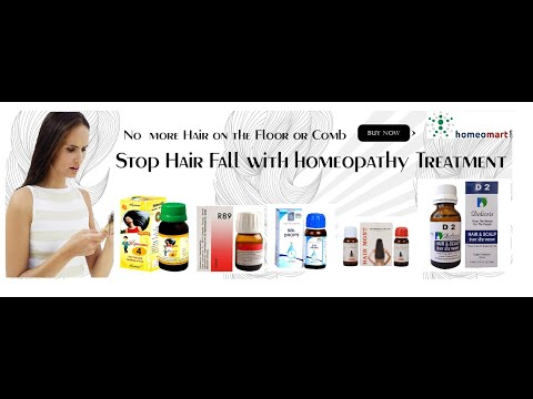 Video Top 5 Homeopathic remedies for  hair loss video - Homeomart.com