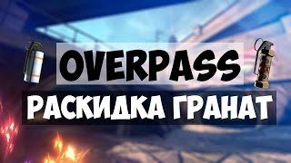 CS:GO | OVERPASS - РАСКИДКА + ДЕФОЛТЫ ЗА АТАКУ