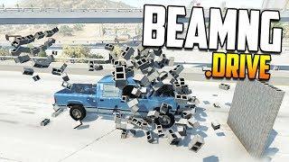 Научный эксперимент! Масса, скорость или форма против кирпичных стен! | BeamNG.drive