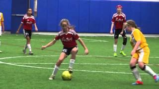 U14 Girls Soccer Joga Bonito Soccer Club Red 01-24-2016