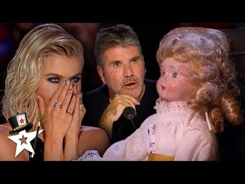 Judge Gets Possessed By Haunted Doll on America's Got Talent | Magicians Got Talent (видео)