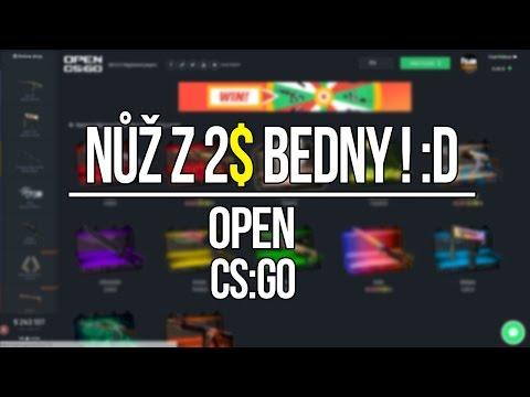 NŮŽ Z 2$ BEDNY ! :D | Opencsgo Cases