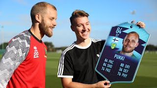 Teemu Pukki Reacts to His FIFA 20 Player Rating | Premier League Player of the Month