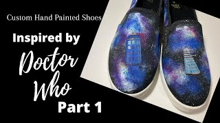 Custom Hand Painted Shoes Inspired By Doctor Who,  Part 1