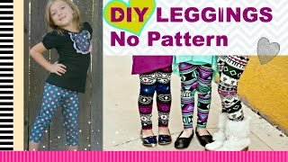 Easy DIY Leggings with no Pattern