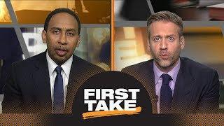 Should Celtics be concerned with 76ers' interest in trading for Kawhi Leonard? | First Take | ESPN