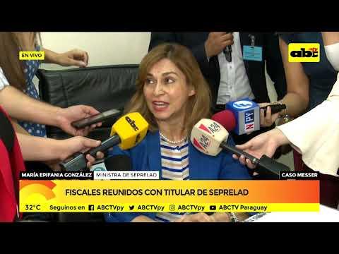 Fiscales reunidos con titular de Seprelad