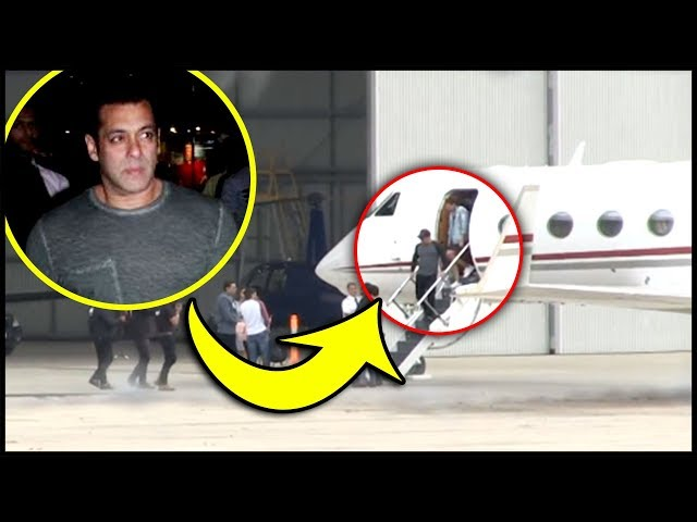 Salman Khan Lands in Private Jet from Dubai, Back From Dabangg Tour 2019