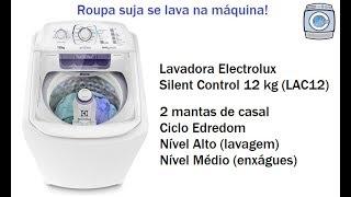 Lavadora Electrolux Silent Control 12 kg (LAC12) - 2 mantas de casal
