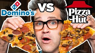 Dominos vs. Pizza Hut Taste Test | FOOD FEUDS