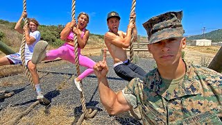 First To Finish Military Obstacle Course Wins!