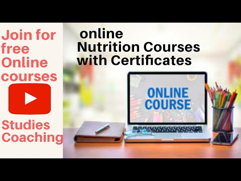 Free Nutrition Courses Online (with Certificate)    Online Free ...