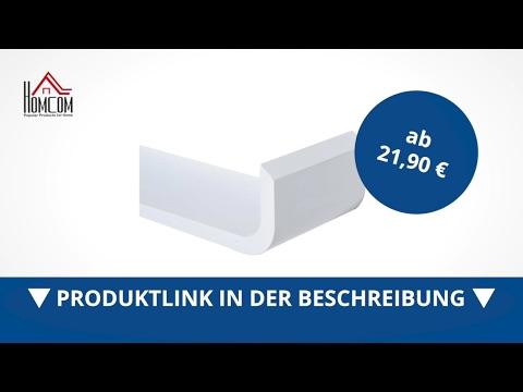 Homcom Wandregal 3 tlg. CD Hängeregal Bücherregal weiß  - direkt kaufen!