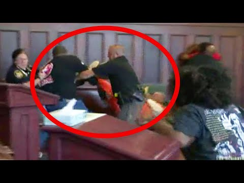 Brothers Attack Mom's Killer in Court During Sentencing