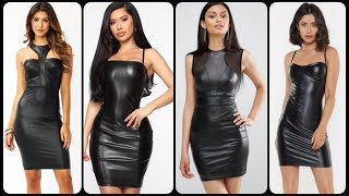 Exclusive And Impressive Designer Leather Mini Bodycon Dress Collection