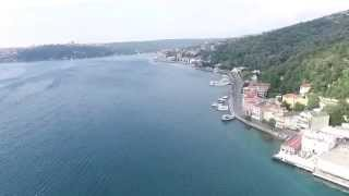 dji phantom 3 flight istanbul bosphorus sariyer  following oil tanker