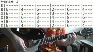 Guitar Lessons Online Prince Little Red Corvette Tab
