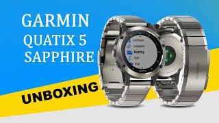 Garmin Quatix 5 Sapphire Unboxing HD (010-01688-42)